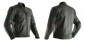 RST IOM TT Hillberry Leather Jacket Green